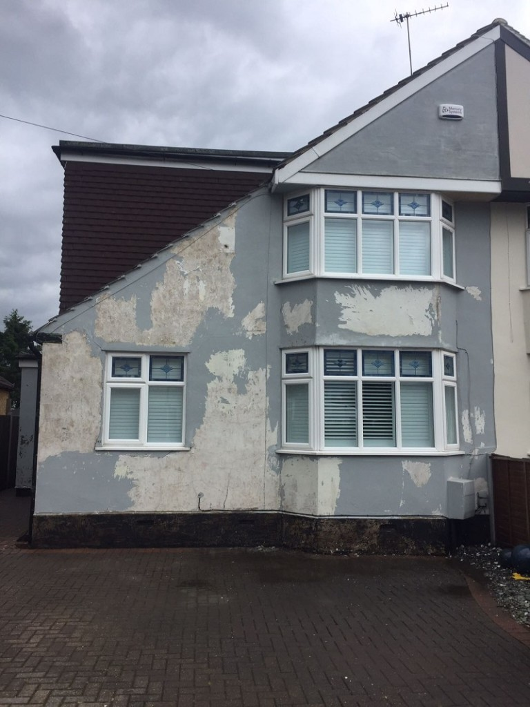 Cement Render Before