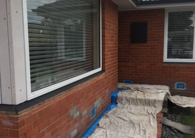 Brick Veneer House Rendering Before and after 2