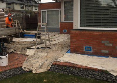 Brick Veneer House Rendering Before and after 3