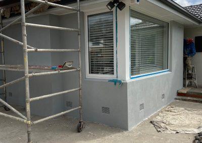 Brick Veneer House Rendering Before and after 9